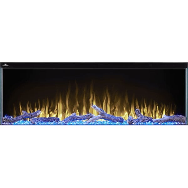 "Napoleon NEFB50H-3SV Trivista 10,000 BTU 50"" Wide Built-In Vent Free Electric Fireplace with Remote Control"