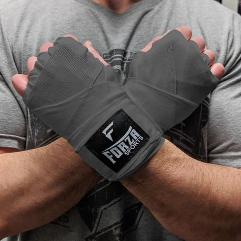 """Forza Sports 180"""" Mexican Style Boxing and MMA Handwraps - Gray"""