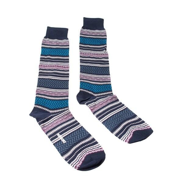 Missoni GM00COU5438 0001 Purple/Turquoise Knee Length Socks - M
