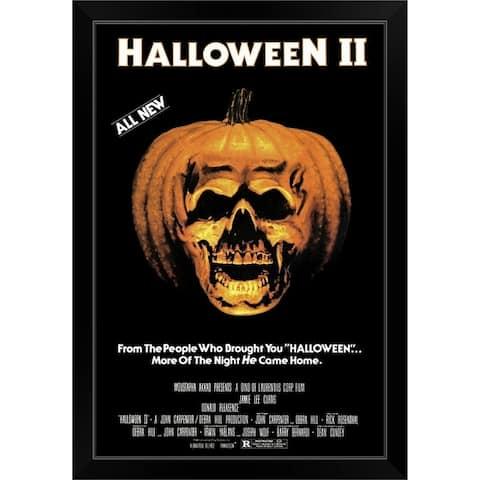 """Halloween 2 The Nightmare Isnt Over! (1981)"" Black Framed Print"