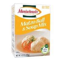 Manischewitz Matzo Ball and Soup Mix - Case of 24 - 4.5 oz.