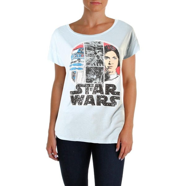 Star Wars Womens Juniors Graphic Tee Studded Graphic