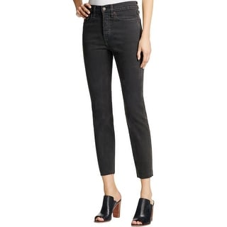 Levi's Womens Ankle Jeans Raw Hem High Rise
