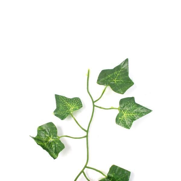 Shop Unique Bargains Wedding Party Green Plastic Simulated Vine Plant Leaves Decor 6ft 1 8m 12pcs On Sale Overstock 18462774