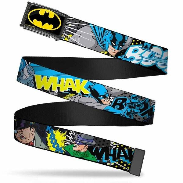 Batman Fcg Black Yellow Black Frame Batman & Villains1 Webbing Web Belt