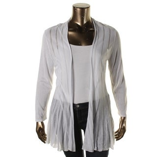 Grace Elements Womens Striped Open Front Cardigan Top