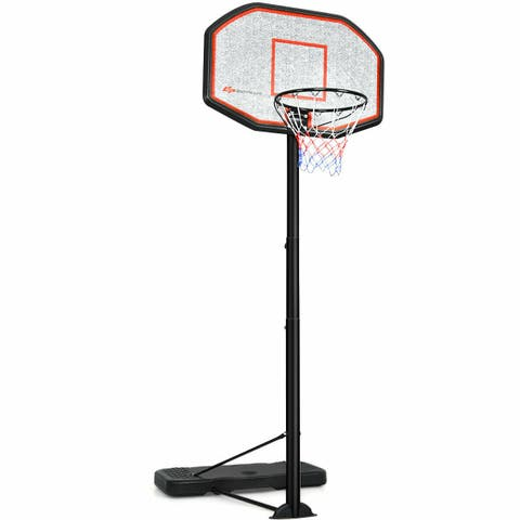 Costway 10ft 43'' Backboard In/outdoor Adjustable Height Basketball Hoop System