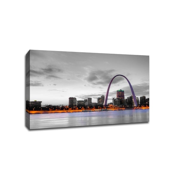 St. Louis - Touch of Color Skylines - 36x24 Gallery Wrapped Canvas Wall Art ToC