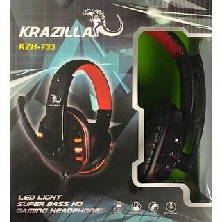 NEW - Krazilla KZH-733 Red HD Gaming Headphones 20-20,000Hz 50mW 32ohm 1.8m Cord