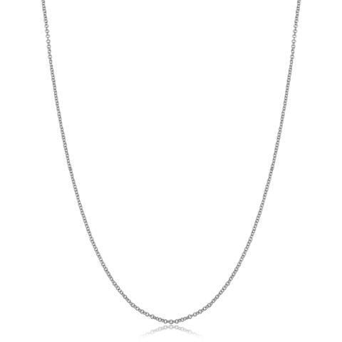 14k White Gold Filled 1.3 millimeter Cable Chain Pendant Necklace (14 - 30 inches)