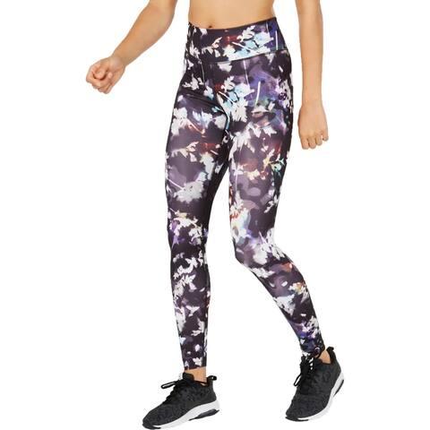 Nike Womens Athletic Leggings Fitness Running - Black Multi - XL