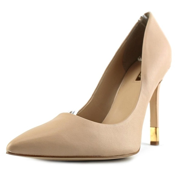 Guess BABBITTA6 Women Pointed Toe Leather Nude Heels