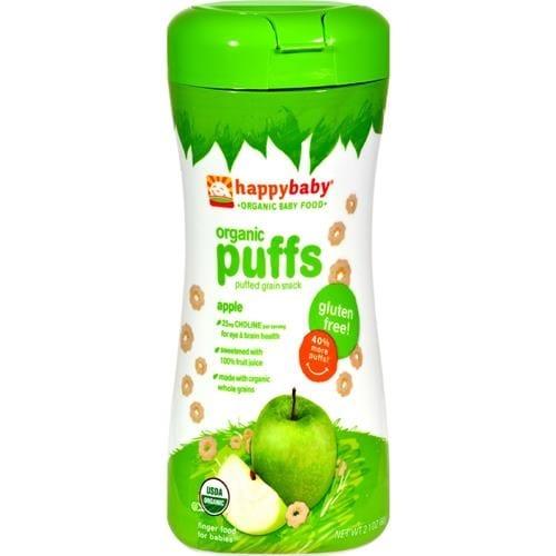 Happy Family - Organic Puffs - Apple ( 6 - 2.1 OZ)