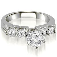 1.30 cttw. 14K White Gold Round Cut Diamond Engagement Ring