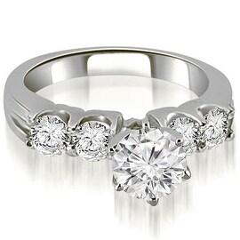 1.55 cttw. 14K White Gold Round Cut Diamond Engagement Ring