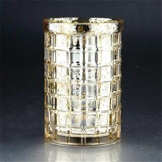Diamond Star 57053 7.5 x 5 in. Glass Vase, Gold