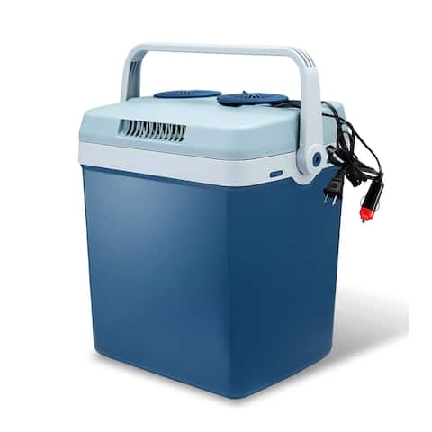 "Lifestyle 27-Quart Electric Cooler/Warmer w/ Dual AC & DC Power Cords - 13"" x 9.5"" x 14"""