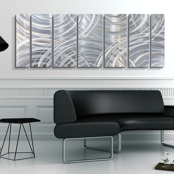 Statements2000 Large Metal Wall Art Modern Abstract Silver Decor By Jon Allen Moving Forward Overstock 27976560