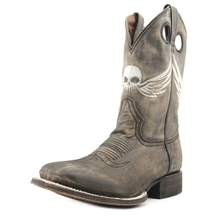 American Rebel Boot Company Outlaw Men Square Toe Leather Brown Western Boot