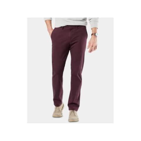 DOCKERS Mens Burgundy Slim Fit Stretch Jeans W29/ L30 - W29/ L30