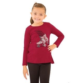 Pulla Bulla LIttle Girl Long Sleeve Graphic Tee Shirt (Option: 6x)