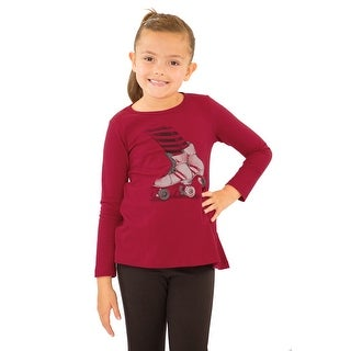 Pulla Bulla Little Girl Long Sleeve Graphic Tee Shirt