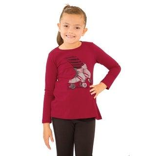 Pulla Bulla Little Girl Long Sleeve Graphic Tee Shirt