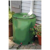 Algreen Castilla Dark Brown 50 Gallon Rain Barrel With