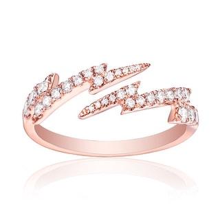 Prism Jewel 0.39 TCW Round Brilliant Cut Natural G-H/SI1 Diamond Fancy Ring - White G-H