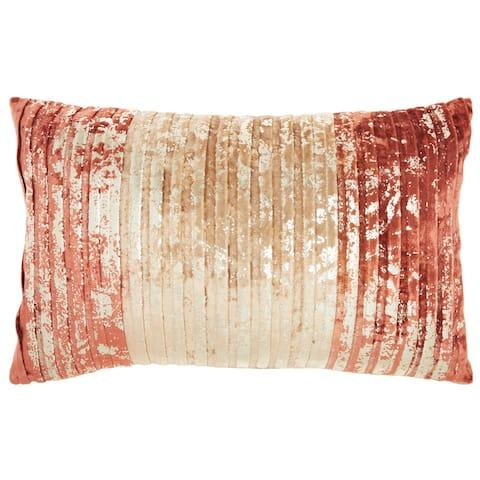 "Mina Victory Sofia Rose Gold Throw Pillow , ( 12"" x 20"" )"