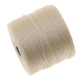 BeadSmith Super-Lon (S-Lon) Cord - Size 18 Twisted Nylon - Vanilla (77 Yard Spool)