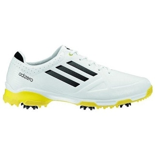 Adidas Men's Adizero 6-Spike White/Black/Yellow Golf Shoes 674979/O99000 (10 MEDIUM)