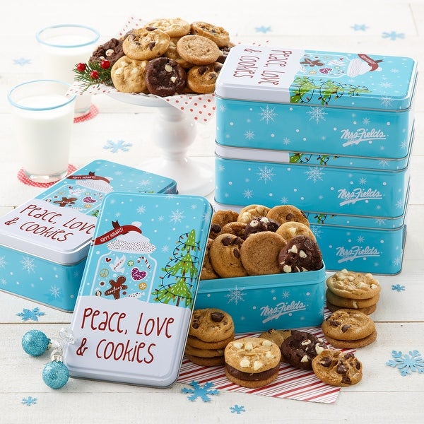 Mrs. Fields Peace, Love & Cookies 30 Nibblers® Bite-Sized Cookies Tin (Case of 5). Opens flyout.
