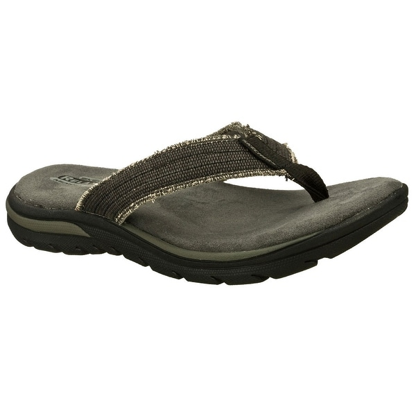 Skechers 64152 BLK Men's SUPREME-BOSNIA Sandal
