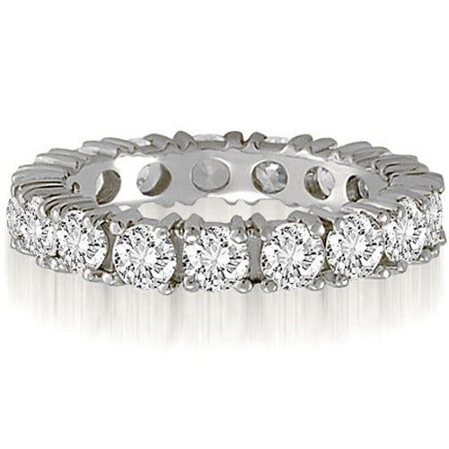 2.50 cttw. 14K White Gold Round Cut Diamond Eternity Wedding Band