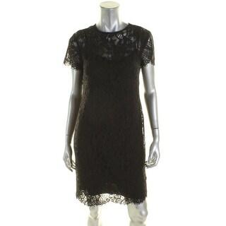 Ralph Lauren Womens Casual Dress Knee length Lace Overlay - 2