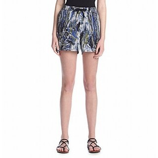 Kensie Womens Medium Black Marbel Swirl Bermuda Shorts