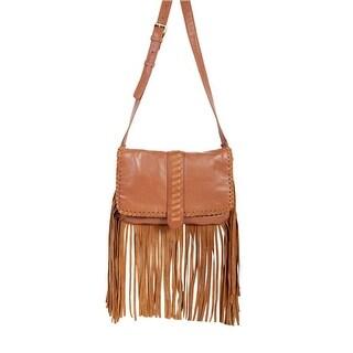 Scully Western Handbag Womens Cross Body Fringe Strap Tan B111 - One size
