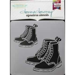 Donna Downey Stencils 8.5 x 8.5 in. Signature Stencil, Boots