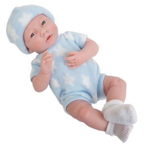 La Newborn 18052 Star Theme Real Boy Vinyl Doll - Blue & White