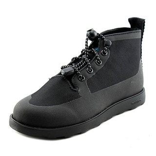 Native Fitzroy Junior Youth Round Toe Canvas Black Boot