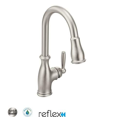 Moen 7185 Brantford Single Handle Pulldown Spray Kitchen Faucet with
