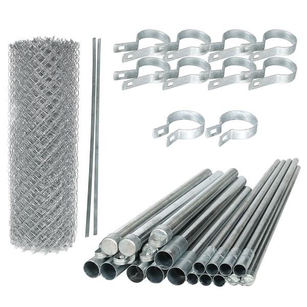 ALEKO Galvanized Steel Chain Link Fence 5X50 Feet Complete Kit. Opens flyout.