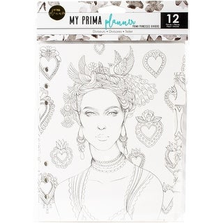 "My Prima Planner Coloring Tabbed Dividers 6.5""X8"" 12/Pkg-Princesses"