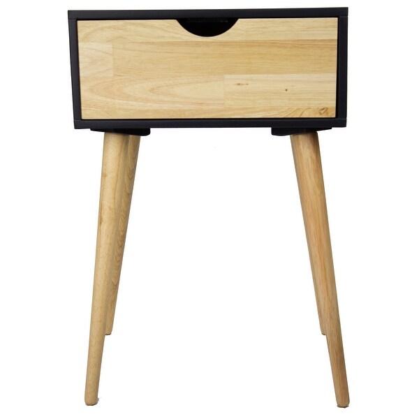1-Drawer End Table - Mdf, Wood In Black