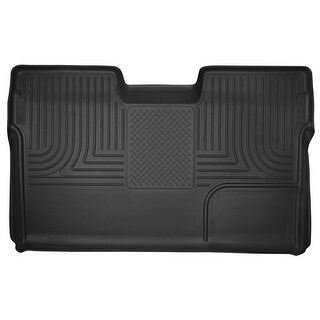 Husky X-act Contour 2009-2014 Ford F-150 SuperCrewCab 2nd Row Black Rear Floor Mats/Liners