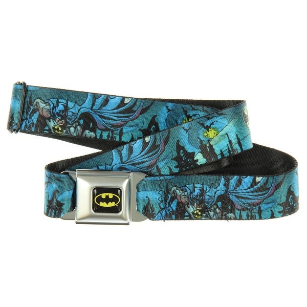 Batman Gothic Knights Poses Seatbelt Belt-Holds Pants Up