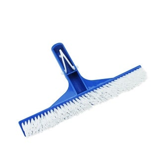 """10"""" Residental Swimming Pool Floor and Wall Cleaning Bristle Brush Head - Blue"""