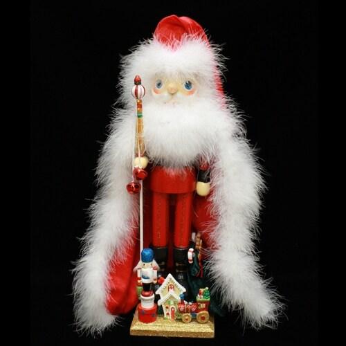 Santa Nutcracker with Train