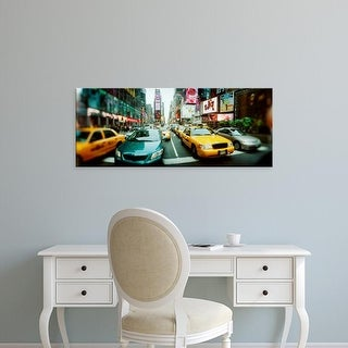 Easy Art Prints Panoramic Image 'Traffic on a road, Times Square, Manhattan, New York City, New York State' Canvas Art